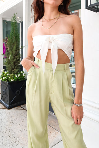 SUNSHINE SCARF TOP - WHITE