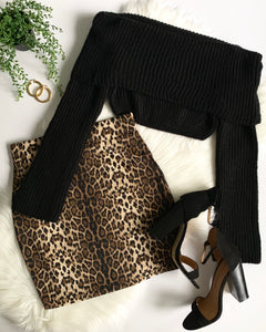 CLEO LEOPARD MINI SKIRT