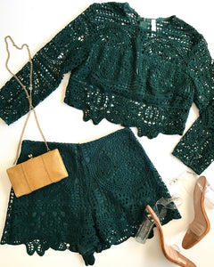 LAZY DOLL SHORT SET - EMERALD