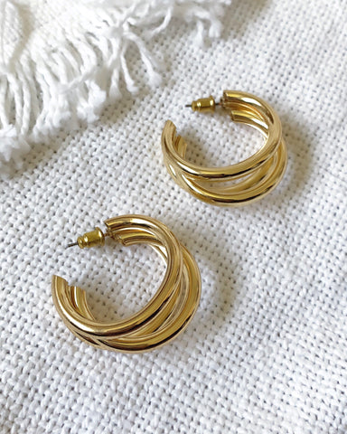 TRI MINI HOOP EARRING