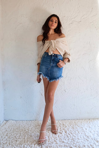 BRICKELL DENIM SKIRT