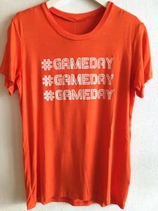 #GAMEDAY TEE - ORANGE