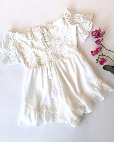 SWEET LOVE ROMPER-WHITE