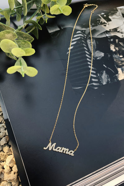 PAVE MAMA NECKLACE