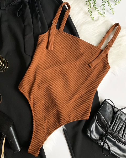 BODY LANGUAGE BODYSUIT- CAMEL