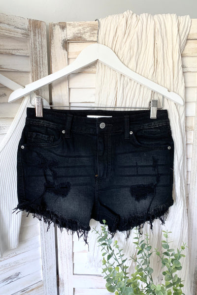 LOLA HIGH RISE DENIM SHORT