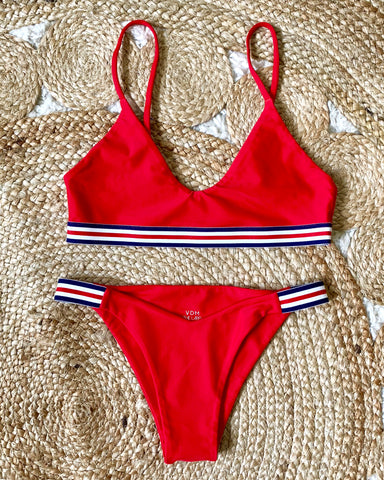 AMERICANA BIKINI SET RED
