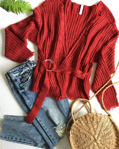 SANTA MONICA SWEATER - RED