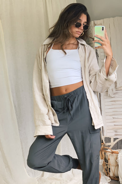 SWEETEST THING PANT - CHARCOAL
