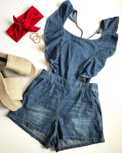DALLAS RUFFLE ROMPER