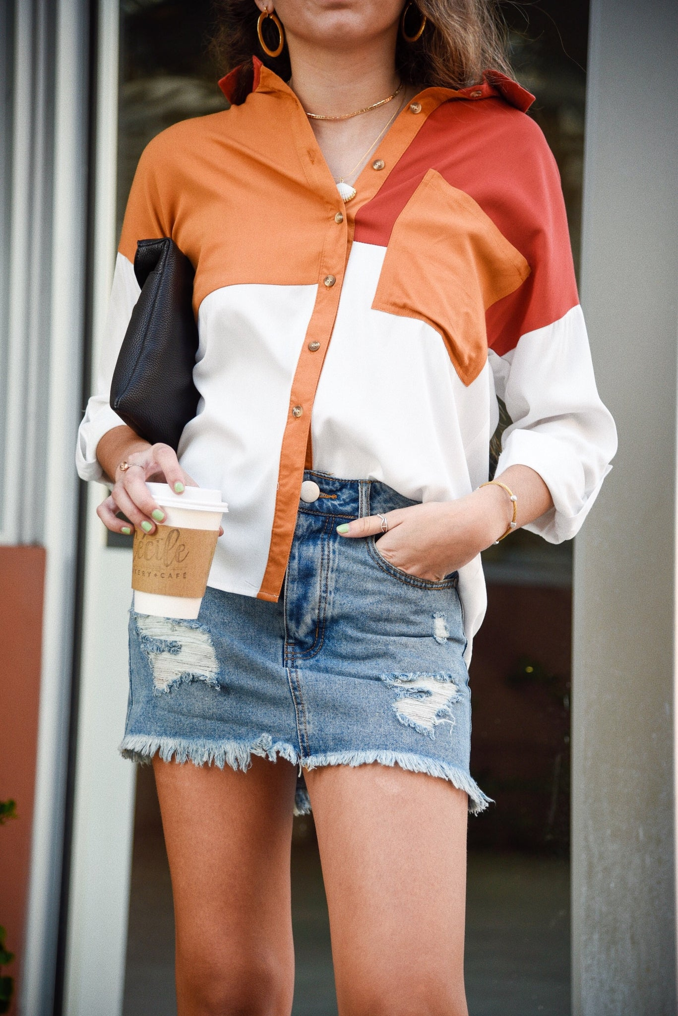 PHOENIX DENIM SKIRT