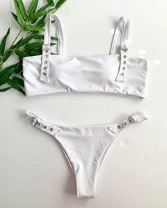 BUCKLE UP SWIMSUIT - WHITE