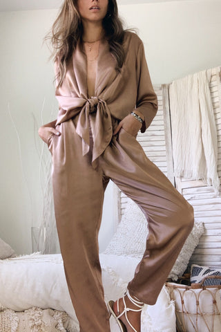 MISS INDEPENDENT JUMPSUIT - ROSE GOLD