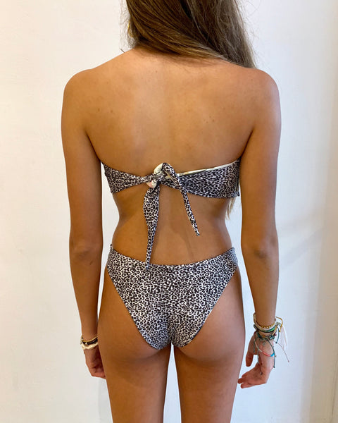 JUNGLE STRAPLESS BIKINI SET