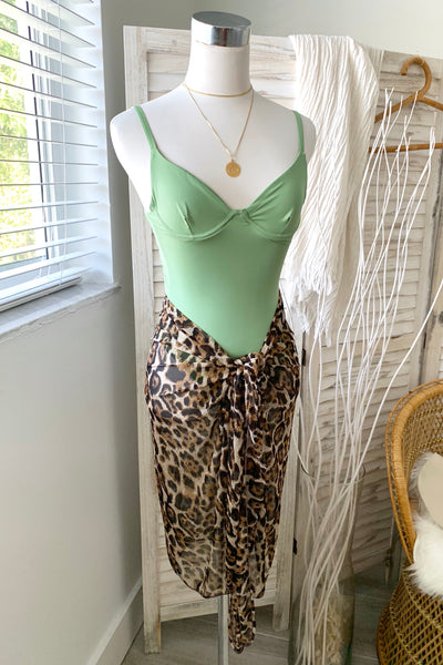 WILD COLLECTION SARONG - LEOPARD