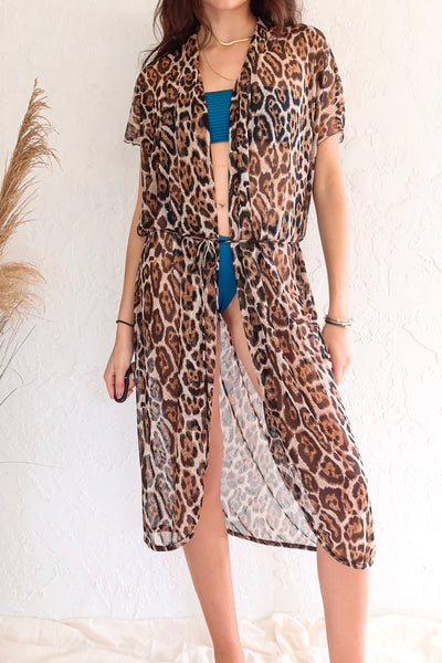 WILD COLLECTION DUSTER - LEOPARD