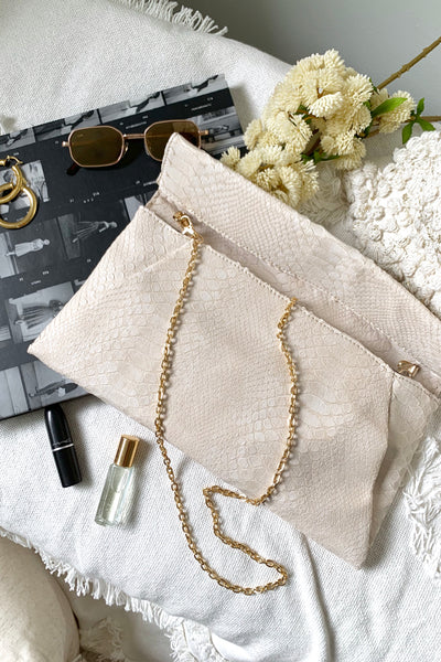 ELLA CLUTCH- WHITE