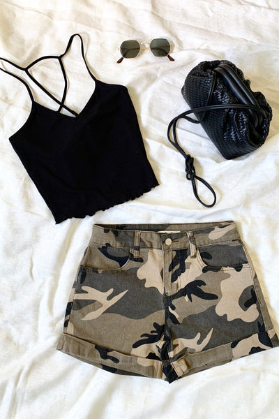 AT EASE CAMO SHORTS
