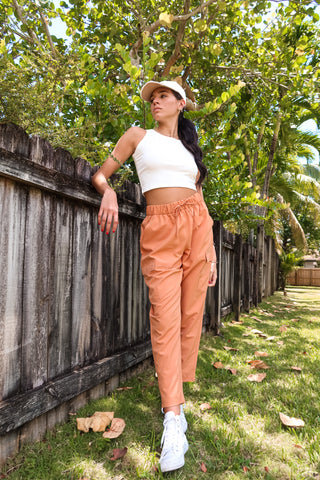 WORK IT OUT JOGGER - TANGERINE