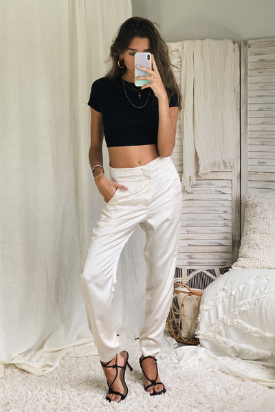 DAY TO NIGHT TROUSER - WHITE