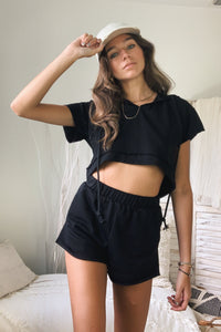 CALI BABE SHORT SET - BLACK