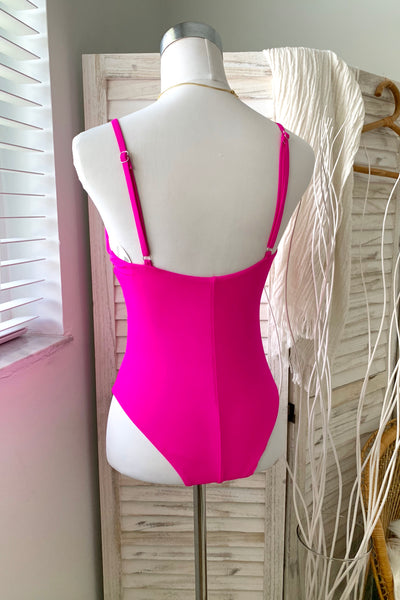 ULTRA PINK CAGED ONE PIECE