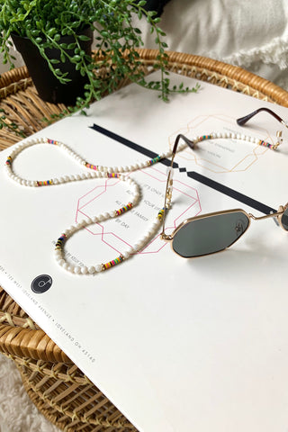 MOTHER OF PEARL SUNGLASS STRAP