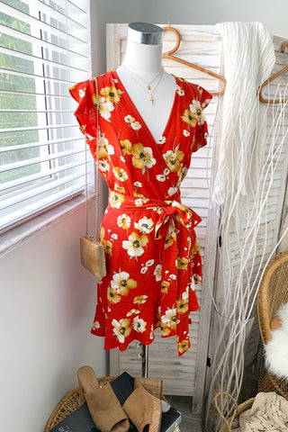 BEFORE SUNSET WRAP DRESS