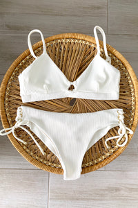 SAND RIBBED BIKINI SET