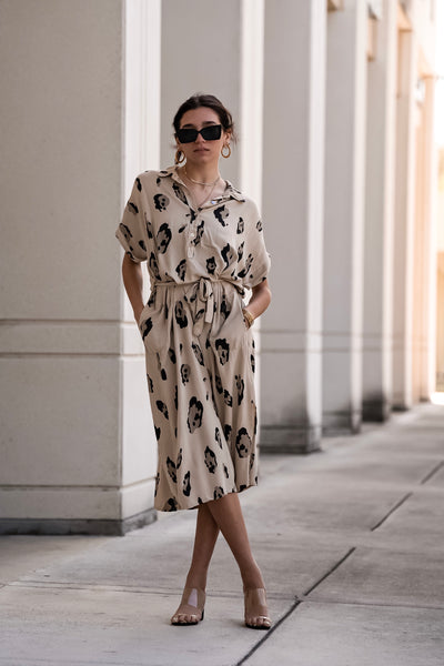 ACQUARELLA MIDI DRESS