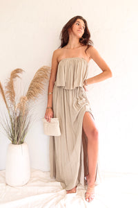 BAY HARBOUR STRAPLESS MAXI DRESS