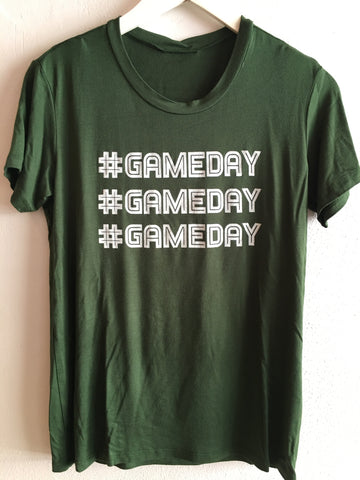 #GAMEDAY TEE - GREEN