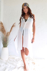 SHORESIDE DRESS - WHITE