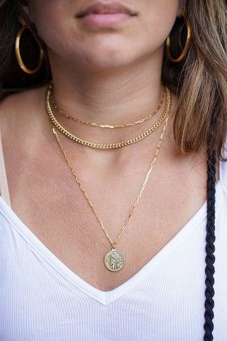 REPUBLIC COIN NECKLACE