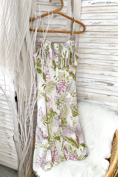 BOTANICAL MIDI DRESS
