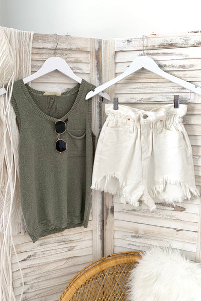 GROVE ISLE SWEATER TANK