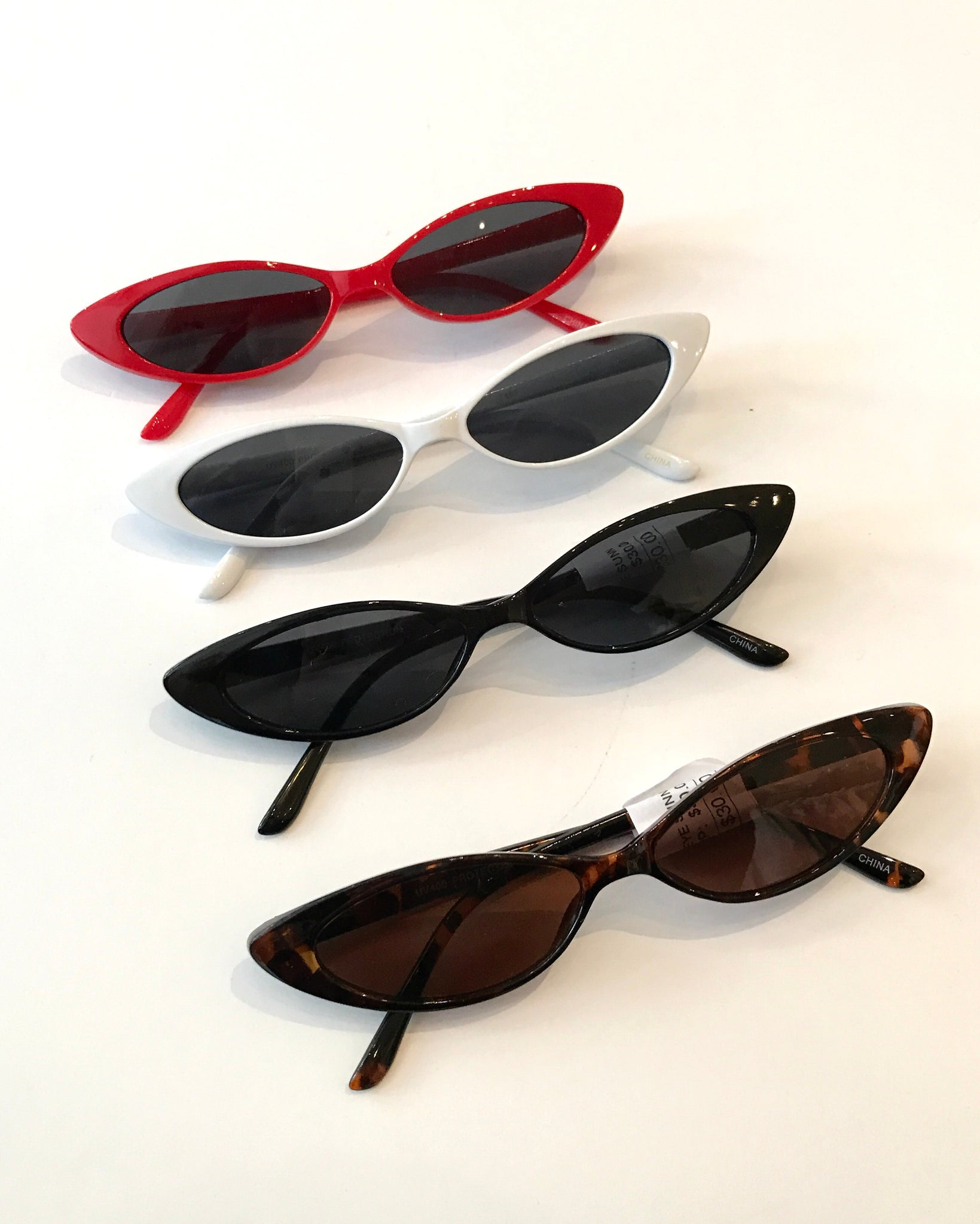 SKINNY CAT EYE SUNGLASSES