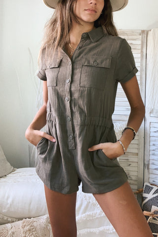 BACK IN BUSINESS ROMPER