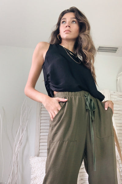 WITH OR WITHOUT YOU PANT - OLIVE