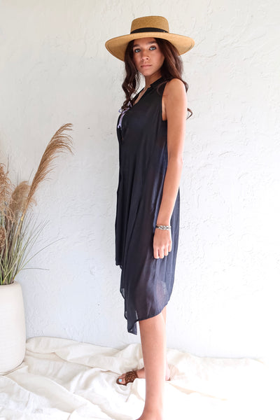 SHORESIDE DRESS - BLACK