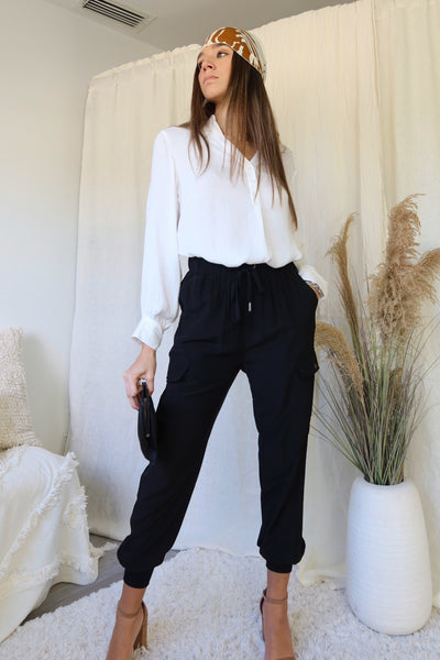 BOSS LADY BLOUSE - WHITE
