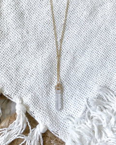 QUARTZ LARIAT NECKLACE
