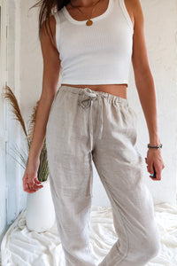 CORE COLLECTION LINEN PANT - NATURAL