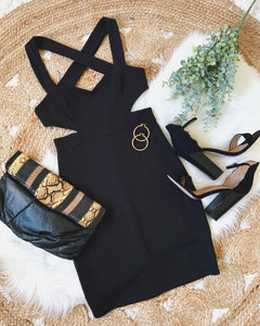 CROSS BACKMINI DRESS