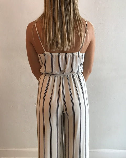 EDEN JUMPSUIT - WHITE/NAVY