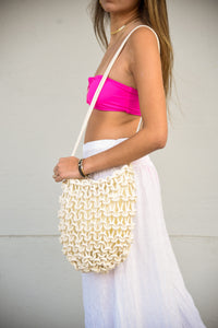 CANCUN MACRAME SHOULDER PURSE