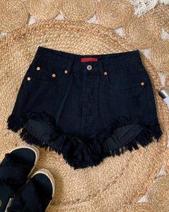 STELLA DENIM SHORTS - BLACK