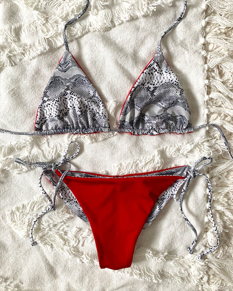 SERPENTINE TIE SIDE BIKINI SET