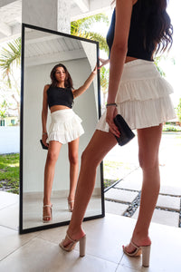LIVE IT UP SKIRT - WHITE