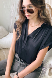 DOWNTOWN BLOUSE - BLACK
